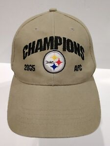 PITTSBURGH STEELERS Vintage 2005 AFC Champions Hat Cap Adjustable Embroidered