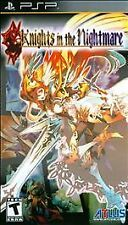 Knights in the Nightmare (Sony PSP, 2010) RPG New and Sealed