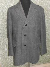 180 70 Hugo Boss Kurzmantel Jacke Mantel Gr.54 Longjacke grau schwarz Schurwolle