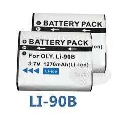 2X Battery for OLYMPUS LI-90B LI-92B Tough TG-3 Tough TG-4 TG-1 XZ-2 iHS Camera