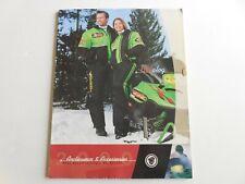 Arctic Cat 2000 snowmobile apparel & accessories catalog Arcticwear Zr Zl