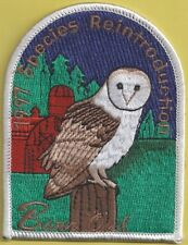 Pa Fish Game Commission Related Pa State Park 1997 Barn Owl Reintroduction Patch
