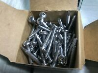 "50 PC Stainless Steel 1 - 1/2"" Pan Head Self Drilling Screws Size 10-16"