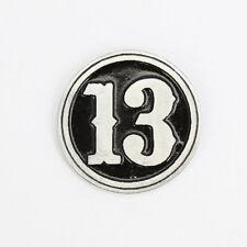 Biker Chopper numero caratteri 13 M MOTO marijuana pin spilla spilla