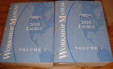 Original 2010 Ford Taurus Shop Service Manual Volume 1 & 2 Set 10