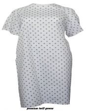 3 NEW DELUXE TWILL PIN DOT HOSPITAL PATIENT GOWN MEDICAL GOWNS EXTRA PRIVACY