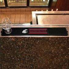 "Washington State Cougars 3.25"" x 24"" Bar Drink Mat - Man Cave, Bar, Game Room"