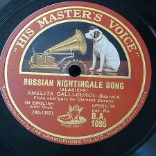 78rpm AMELITA GALLI-CURCI russian nightingale song / clavelitos / estrellita