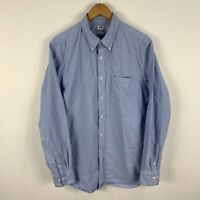 Uniqlo Mens Button Up Shirt Size Large Slim Fit Blue Long Sleeve Collared