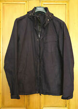 Mens Barbour International navy casual hooded jacket size M Medium 38