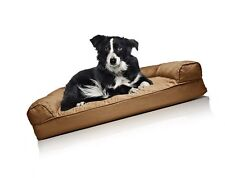 FurHaven Orthopedic Dog Couch Sofa Bed for Dogs and Cats Warm Brown Large