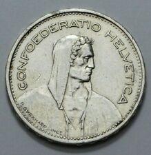 1932-B Swiss 5 FR Confoederatio Helvetica Coin Silver P.Bvrkhard.Inc. No Reserve