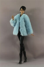 Fashion Blue Winter fur Coat +leggings+Boots Clothes/Outfit  For 11.5in.Doll