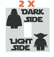 2x Lego Star Wars Dark Light Side Vinyl Decal Sticker Kid Room Light switch