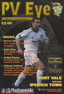 Port Vale v Ipswich Town  03-Jan-2000