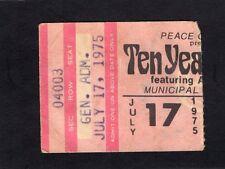 Original 1975 Ten Years After Leslie West concert ticket stub Alvin Lee
