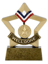 WELL DONE SOLID RESIN MINI STAR TROPHY SCHOOL AWARD FREE ENGRAVING A1103