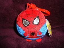 "Ty Beanie Ballz Marvel Spider Man 2.5"" Key Chain Clip On W/Tags Mini Ball"