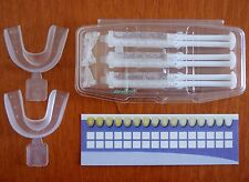 DAY WHITE ACP 14% - WHITENING GEL - 3 SYRINGES + MOUTH TEETH TRAYS + SHADE CARD