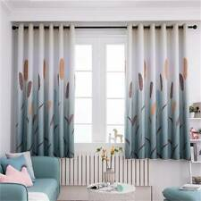 Kids Bedroom Reed Pattern Short Curtain Window Blackout Curtains Drapes QK