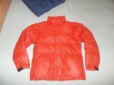 Holubar Puffer Goose Down Jacket Parka Coat ORANGE USA Ripstop Nylon Vintage