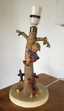 Vintage Goebel Hummel Lamp Base - Boy in Apple Tree