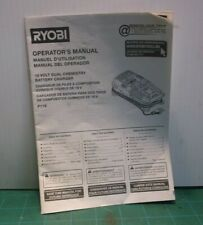 Ryobi P118 18V Dual Chemistry Battery Charger Manual ( Manual Only )