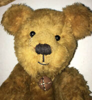 🐻🧸 Fine Arts Jointed Teddy Bear Artist Signed Collector Hand Made ChildToy  🧸