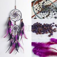 Handmade Dream Catcher Circular With Feather Wall Hanging Decoration Ornament