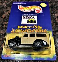 Hot Wheels MSRA 1996 Back to the '50's '40's Woodie Black & Tan NRFP  Good Card