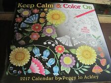 KEEP CALM COLOR ON 2017 CALENDAR BY PEGGY JO ACKLEY NEW FACTORY SEALED
