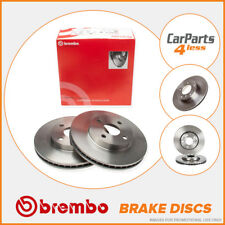 Rear Brake Discs 300mm Solid Mercedes Benz E C Class W212 W204 Brembo 08.A612.41