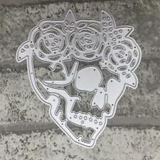 Halloween Metal Cutting Dies Skull Shape Stencils Making Decorative Embossing