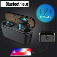 Wireless Bluetooth Headset 5.0 Headphones Sport Waterproof Earbuds Earphone 2019