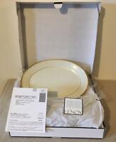"Lenox Eternal Ivory Gold 13"" Oval Serving Platter Bone China NEW!"