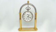 Pedestal Bow Bicolor Expositor Pocket Watch Capital Elegant Gift Idea
