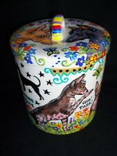 Hp Xolo Canister Jar hand painted painting dog Art Mexican hairless Peruvian