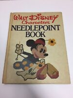 Vtg Walt Disney Characters Needlepoint 1976 Disneyana Crafts Mickey Minnie Bambi