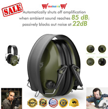 Electronic Ear Muffs Hearing Noise Protection Gun Shooting Hunting Range Muff US