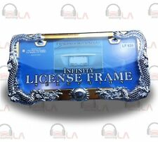 LICENSE PLATE FRAME DRAGON CHROME DRAGON/GOLD PLATE LF629