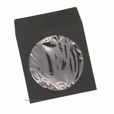 100 Premium Black Color Paper CD Sleeve Window Flap CD DVD 100G