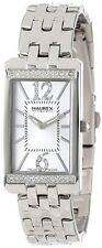 Haurex Women's 2S391DSS Primula Stainless Steel White Dial Swarovski Watch