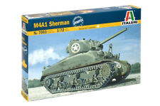 M4A1 Sherman Tank 1:72 Plastic Model Kit ITALERI