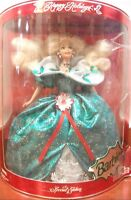 Happy Holidays 1995 Special Edition Barbie vintage Wears Green gown +accessories