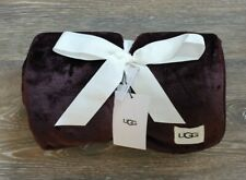 New with Tags UGG Home Duffield Throw Blanket Port Burgundy 50 X 70