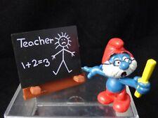 Peyo Schleich SUPER PAPA SMURF Teacher Chalk Board Figure with Box