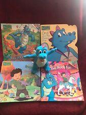 "Dragon Tales Ord Flying Dragons 6"" Plush Flapping Wings 1999 Playskool & 4 Books"
