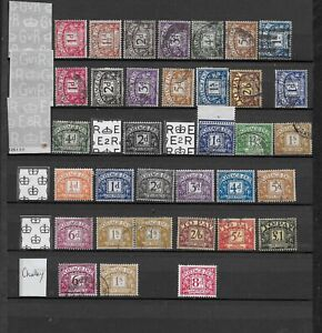 1922/60 GB POSTAGE DUES EXCELLENT VFU COLLATION FROM 8 DIFFERENT SETS TO £1