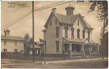 Residence of P.H. Doherty, Main Street, Latrobe PA RP Postcard