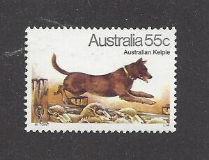 Art Body Portrait Postage Stamp AUSTRALIAN KELPIE CATTLE DOG Australia 1980 MNH